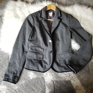 GAP THE ACADEMY BLAZER GRAY BLACK TRIM